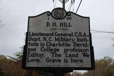 D.H. Hill Marker image. Click for full size.
