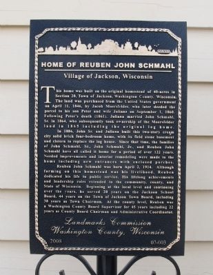 Home of Reuben John Schmahl Marker image. Click for full size.