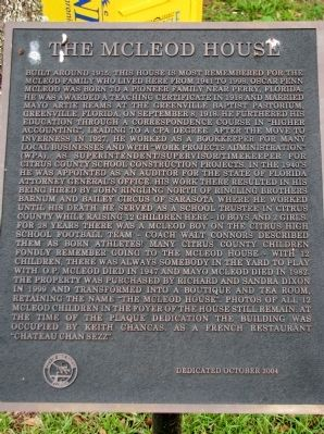 The McLeod House Marker image. Click for full size.