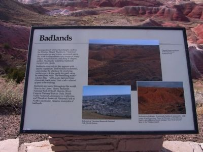 Badlands Marker image. Click for full size.