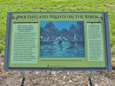 Five Days and Nights on the River Marker image. Click for full size.
