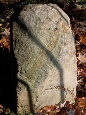 Original West Corner Stone image. Click for full size.