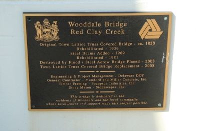 Wooddale Bridge Marker image. Click for full size.