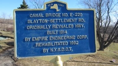 Canal Bridge No. E-220 Marker image. Click for full size.