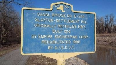 Canal Bridge No. E-220 Twin Canalside Marker image. Click for full size.