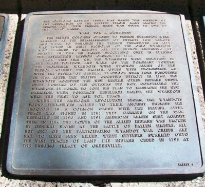 The History of the Wyandot Indian Nation Tablet 4 image. Click for full size.
