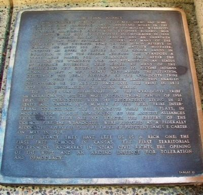 The History of the Wyandot Indian Nation Tablet 10 image. Click for full size.