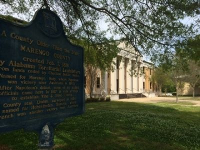 Marker & Marengo County Courthouse image. Click for full size.