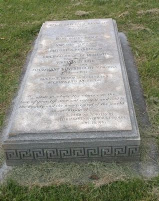 The Gravestone of Julian Sargeant Reynolds image. Click for full size.