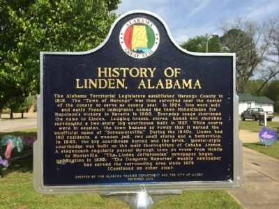 History of Linden Marker image. Click for full size.