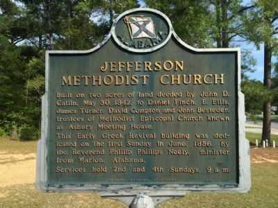 Jefferson Methodist Church Marker image. Click for full size.