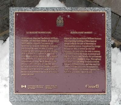 Le Marché Bonsecours / Bonsecours Market Marker image. Click for full size.