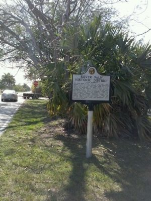 Silver Palm Historic District Marker image. Click for full size.
