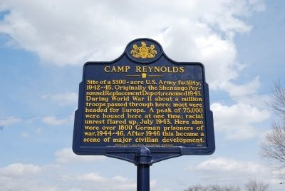 Camp Reynolds Marker image. Click for full size.