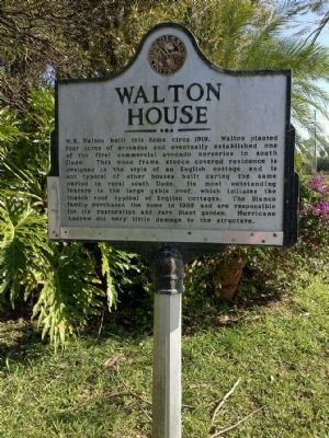 Walton House Marker image. Click for full size.