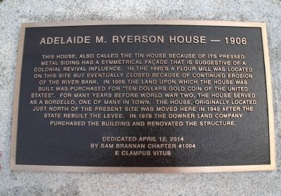 Adelade M. Ryerson House--1906 Marker image. Click for full size.