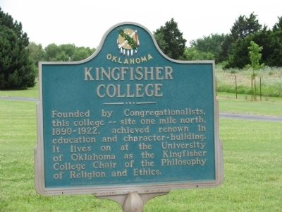 Kingfisher College Marker image. Click for full size.
