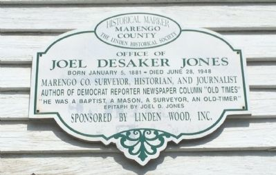 Home of Joel Desaker Jones Marker image. Click for full size.