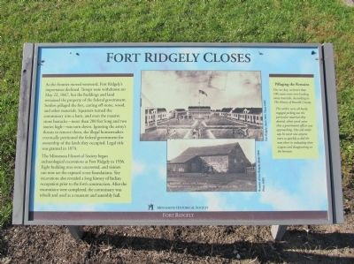 Fort Ridgely Closes Marker image. Click for full size.