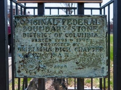 Original Federal Boundary Marker image. Click for full size.