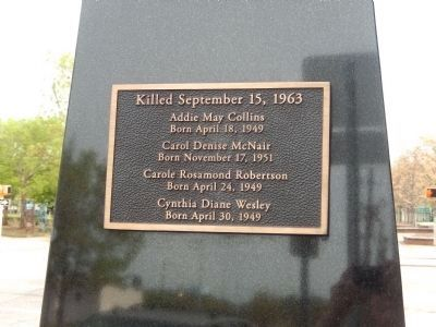Killed September 15, 1963 image. Click for full size.