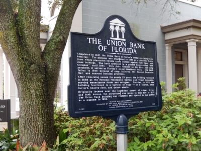 The Union Bank of Florida Marker image. Click for full size.