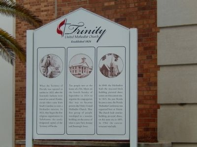 Trinity United Methodist Church Marker image. Click for full size.