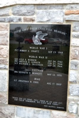 White Pigeon Fallen Soldiers Memorial Marker image. Click for full size.
