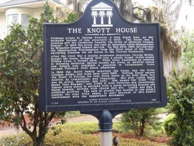 The Knott House Marker image. Click for full size.