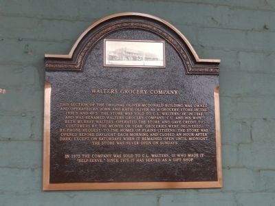Walters Grocery Company Marker image. Click for full size.