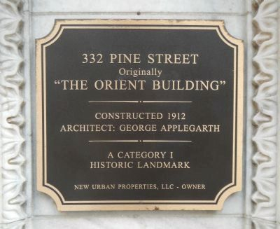 """The Orient Building"" Marker image. Click for full size."