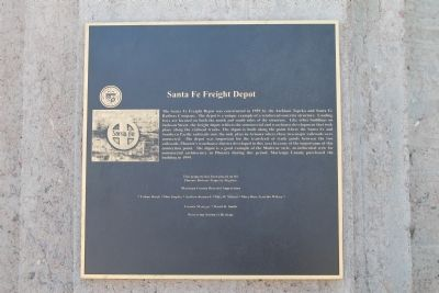 Santa Fe Freight Depot Marker image. Click for full size.