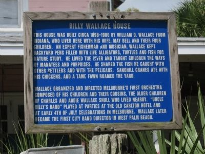 Billy Wallace House Marker image. Click for full size.