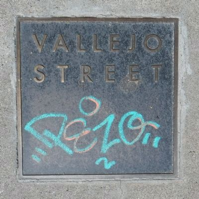 Vallejo Street Marker image. Click for full size.