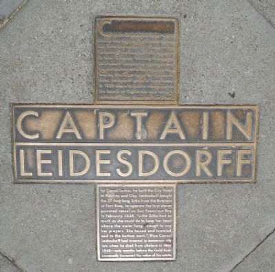 Captain Leidesdorff Marker image. Click for full size.