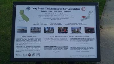 Long Beach-Yokkaichi Sister City Association Marker image. Click for full size.