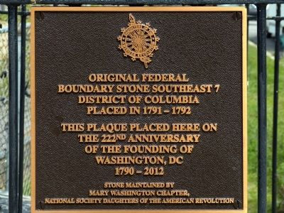 Original Federal Boundary Stone Southeast 7 Marker image. Click for full size.