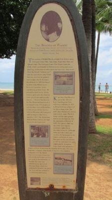 The Beaches of Waikiki Marker image. Click for full size.