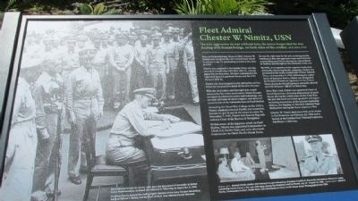 Fleet Admiral Chester W. Nimitz, USN image. Click for full size.