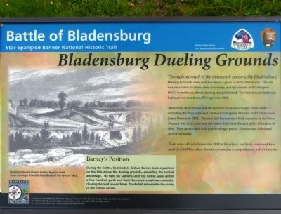 Bladensburg Dueling Grounds Marker image. Click for full size.