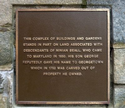 This Complex of Buildings and Gardens Marker image. Click for full size.