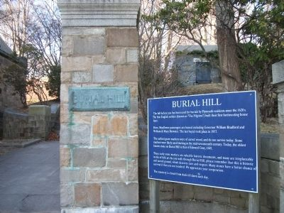 Burial Hill Marker image. Click for full size.