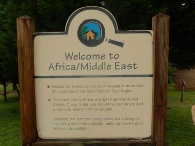 Welcome to Africa/Middle East Marker image. Click for full size.