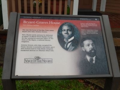 Bryant-Graves House Marker image. Click for full size.