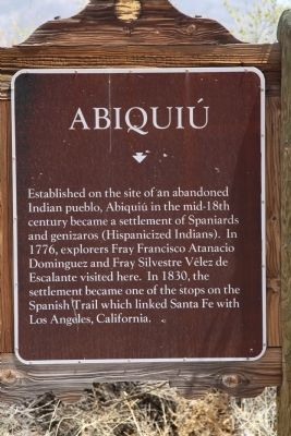 Abiquiú Marker image. Click for full size.