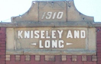 Kniseley and Long Building Frontispiece image. Click for full size.