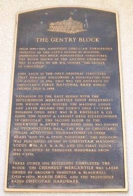 The Gentry Block Marker image. Click for full size.