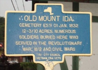 Old Mount Ida Cemetery Marker image. Click for full size.
