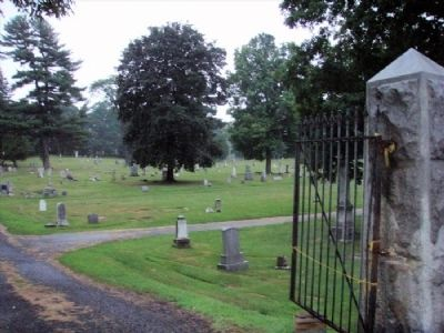 Old Mount Ida Cemetery Entrance image. Click for full size.