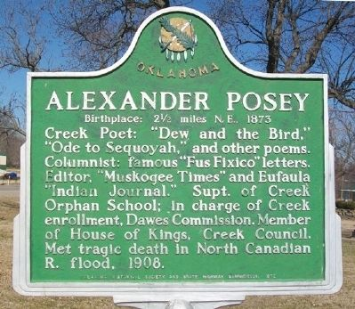Alexander Posey Marker image. Click for full size.